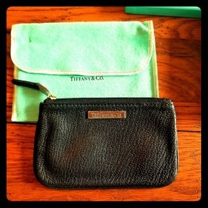 Tiffany & Co. Grain Small Flat Zip Pouch Authentic